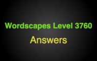Wordscapes Level 3760 Answers