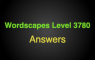 Wordscapes Level 3780 Answers
