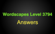 Wordscapes Level 3794 Answers