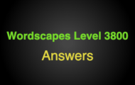 Wordscapes Level 3800 Answers