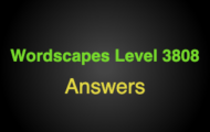 Wordscapes Level 3808 Answers