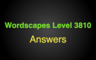 Wordscapes Level 3810 Answers