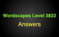 Wordscapes Level 3822 Answers