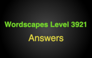 Wordscapes Level 3921 Answers