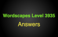 Wordscapes Level 3935 Answers