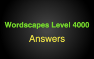 Wordscapes Level 4000 Answers