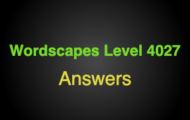 Wordscapes Level 4027 Answers