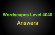 Wordscapes Level 4040 Answers