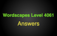 Wordscapes Level 4061 Answers