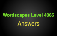 Wordscapes Level 4065 Answers