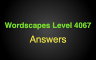 Wordscapes Level 4067 Answers