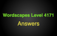 Wordscapes Level 4171 Answers