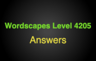 Wordscapes Level 4205 Answers