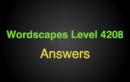 Wordscapes Level 4208 Answers