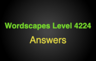 Wordscapes Level 4224 Answers