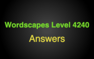 Wordscapes Level 4240 Answers