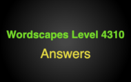 Wordscapes Level 4310 Answers