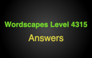Wordscapes Level 4315 Answers