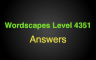 Wordscapes Level 4351 Answers