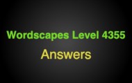 Wordscapes Level 4355 Answers