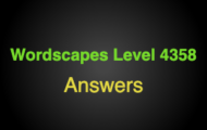 Wordscapes Level 4358 Answers