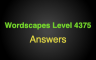 Wordscapes Level 4375 Answers