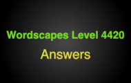 Wordscapes Level 4420 Answers
