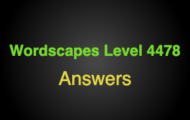Wordscapes Level 4478 Answers