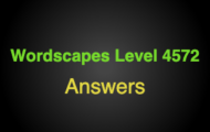 Wordscapes Level 4572 Answers
