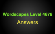Wordscapes Level 4676 Answers