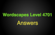 Wordscapes Level 4701 Answers