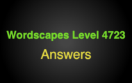 Wordscapes Level 4723 Answers