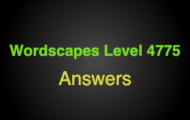 Wordscapes Level 4775 Answers