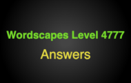 Wordscapes Level 4777 Answers