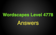 Wordscapes Level 4778 Answers