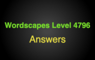 Wordscapes Level 4796 Answers
