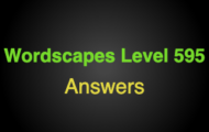 Wordscapes Level 595 Answers