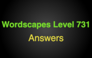 Wordscapes Level 731 Answers