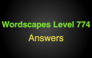Wordscapes Level 774 Answers