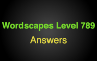 Wordscapes Level 789 Answers