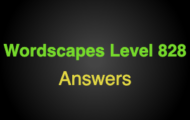 Wordscapes Level 828 Answers