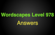 Wordscapes Level 978 Answers