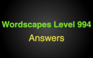 Wordscapes Level 994 Answers
