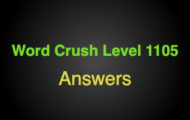 Word Crush Level 1105 It's fluffy  Answers