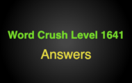 Word Crush Level 1641 Couples might hide it from each other  Answers