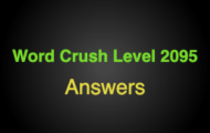Word Crush Level 2095 Double letters – verb  Answers
