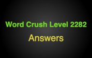 Word Crush Level 2282 Associated with treasures  Answers