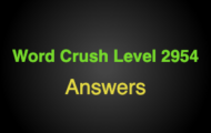Word Crush Level 2954 Things that cat chases  Answers