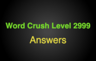 Word Crush Level 2999 It's red  Answers