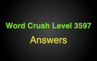 Word Crush Level 3597 In water park  Answers